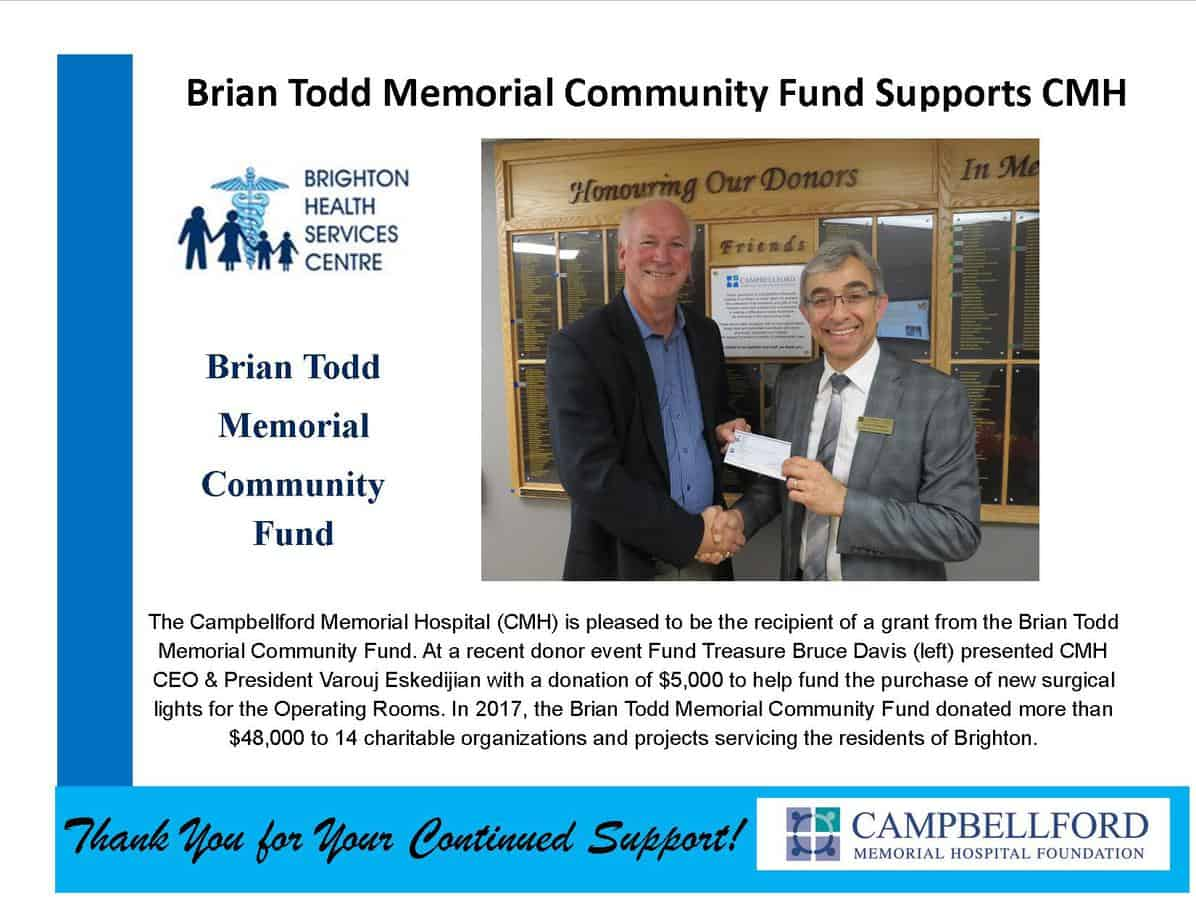 Brian Todd Memorial Community Fund Grant 2017 Take 2