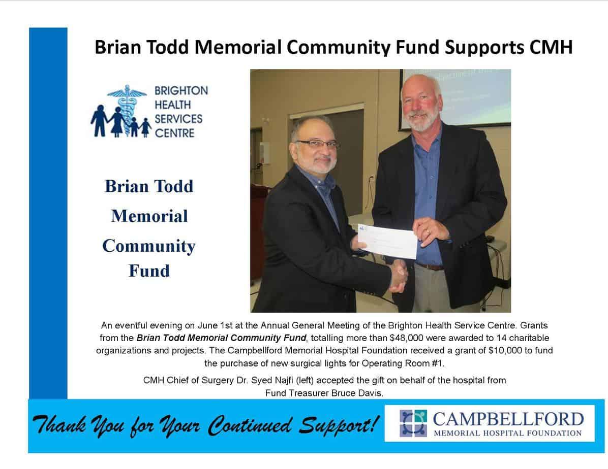 Brian Todd Memorial Community Fund Grant 2017
