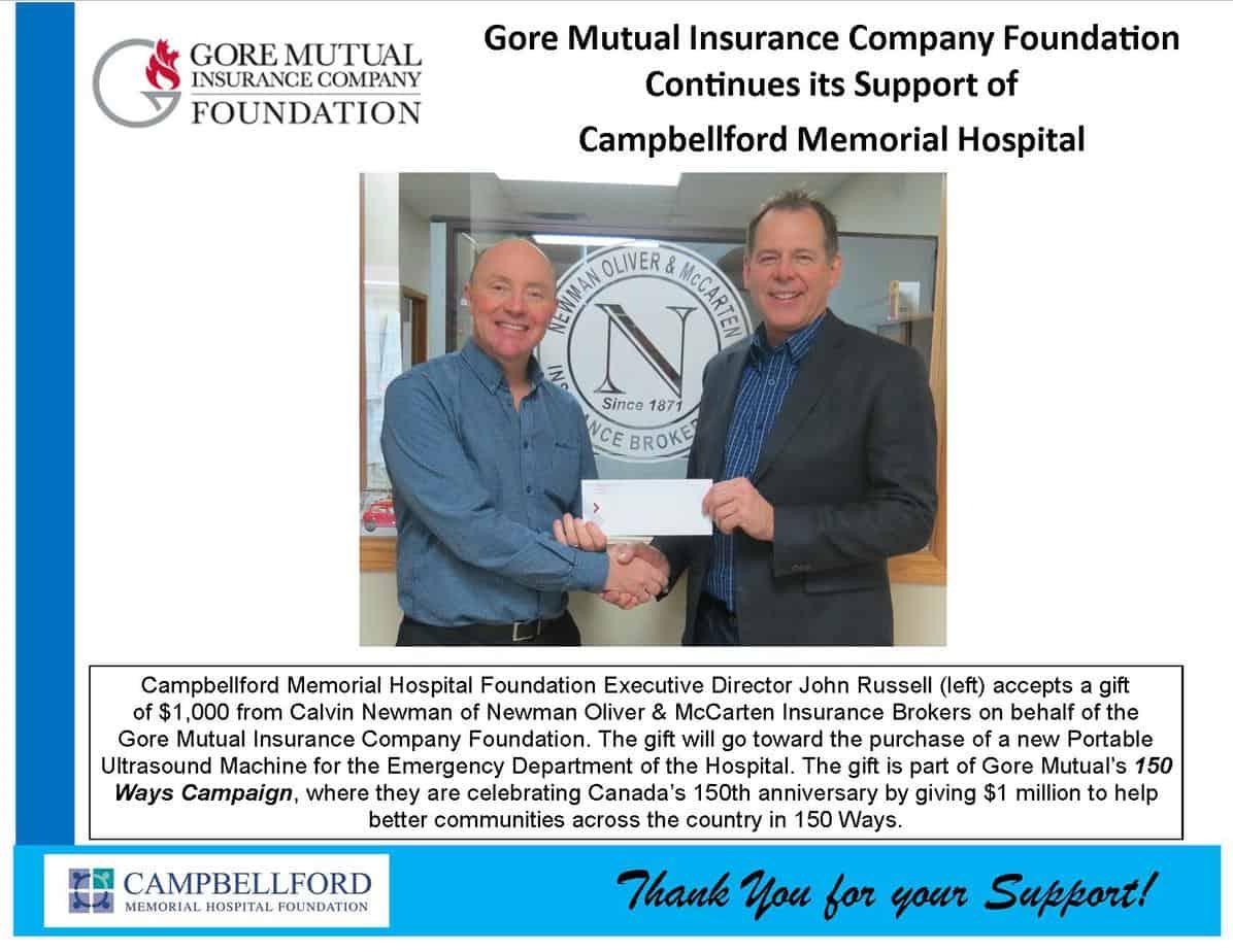 Gore Mutual Donation December 2017