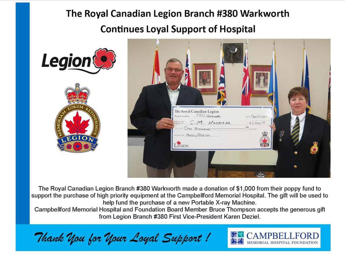 Legion Branch #380 Warkworth 2017
