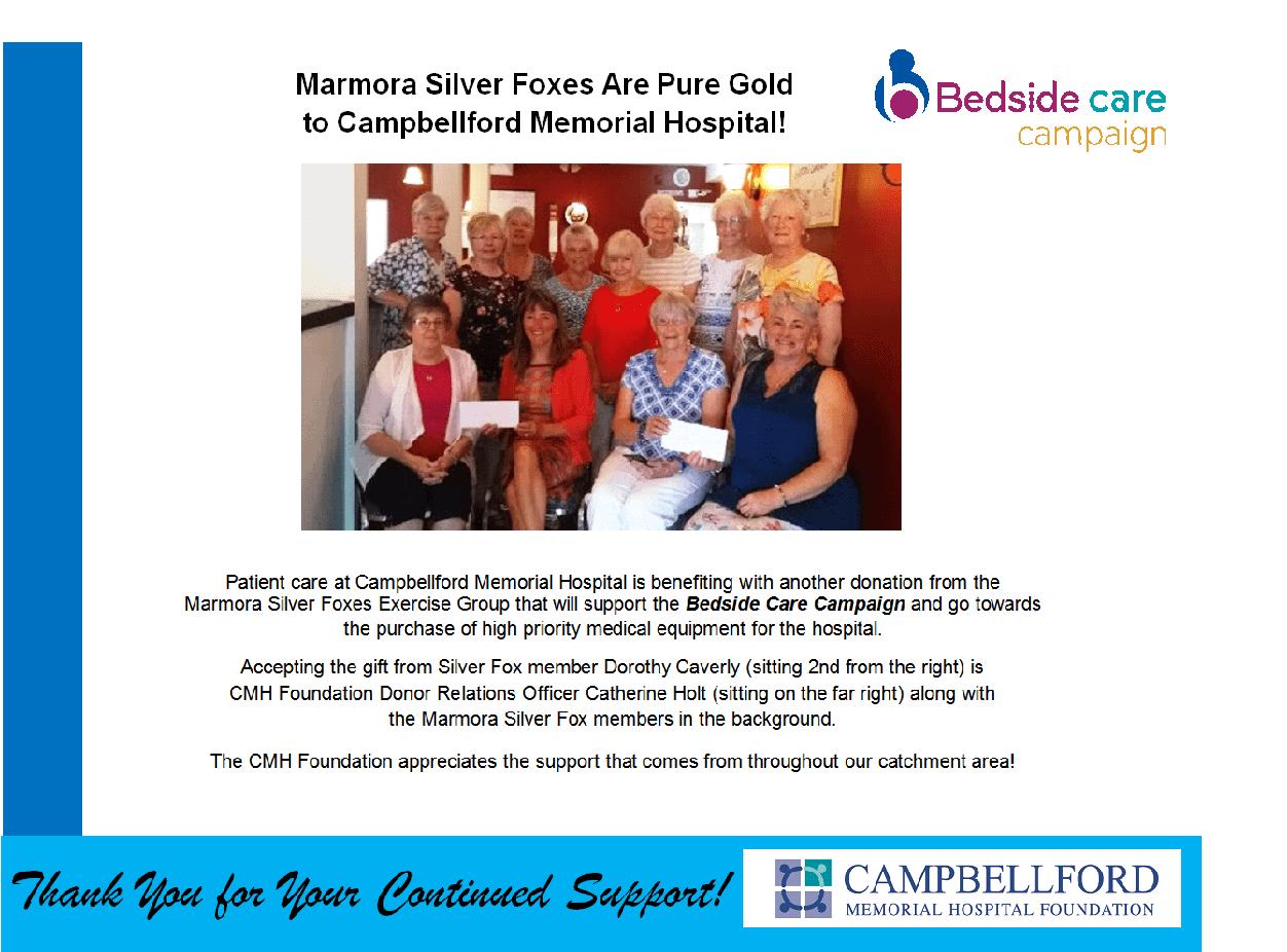Marmora Silver Foxes June 2018