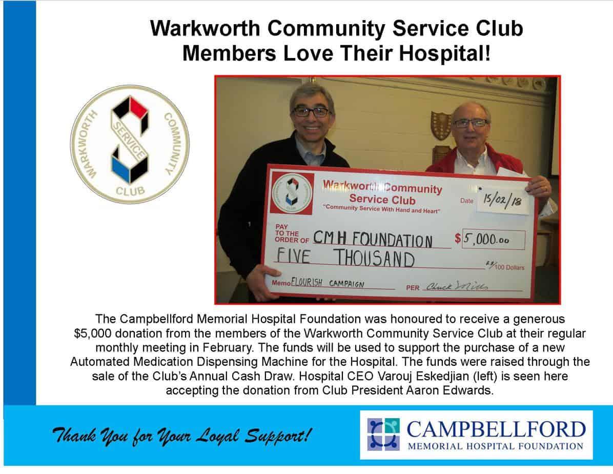 Warkworth Community Service Club 2018